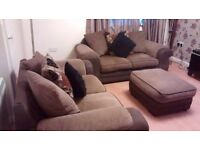 Beautiful dfs 2+2 seater and matching footstool all in good condition can deliver