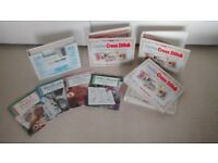 Complete CREATIVE CROSS STITCH plus books and magazines. REDUCED