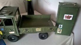 Action man truck and locker/storage box
