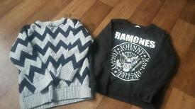 2 x boys jumpers