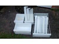 Zanussi ZI 720 fridge/freezer full set of baskets/glass shelves/door fittings