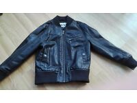 Boys M&S leather jacket 5-6 Years