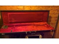 Fender Deluxe Black Case - Amp Logo - Orange Plush Interior for Jag/Jazzmaster Perfect condition