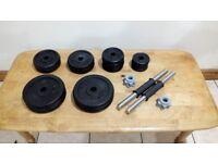 York Cast Iron Adjustable Dumbbell Set - 37kg Weights