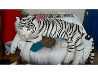 Very large black and white tiger teddy teddy bear cushion door huge!