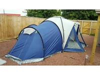 Skandika 10-12 Man Tent Blue and Grey Excellent condition