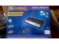 wireless G54 network kit - brand new