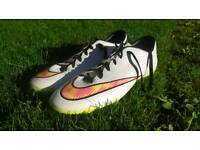 White Nike Mercurial Football Boots UK Size 12 Used Only Twice With One Small Defect