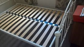 good condition small double bed frame, one and a half year old from john Lewis cost £350 pound