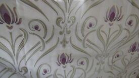 """Pr Sundour curtains 72"""" drop x 62"""" width."""