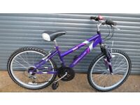 GIRLS APOLLO ENVY BIKE IN EXCELLENT USED CONDITION. (SUIT APPROX. AGE. 9+)..