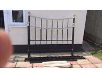 Black king size bed 5ft