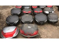garage clearance topboxes for all different motorbikes/scooters givi honda shad