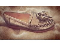 Dune NEW glitzy flat loafers shoes size 3.5 (36)