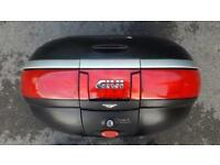 Givi top box with mounting bracket and Suzuki Bandit frame