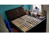 Double sleigh bed with 4 large drawer