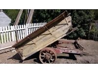 Antique Tipping Haycart