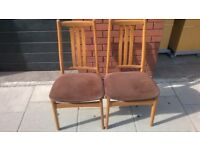 Pair of original 1970s chairs excellent central London bargaibn