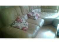 CORNER SOFA LEATHER L SHAPE WITH MATCHING TWO SEATER LEATHER CAMEL COLOR DELIVER MCR FREE M30 0SD