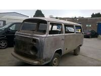 VW T2 bay window Type 2 RUST FREE Bare metal shell camper campervan westfalia PROJECT open to offers