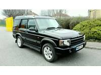 2002 LAND ROVER DISCOVERY II 4.0 V8i ES AUTO BLACK *LPG* 7 SEATER MOT F.S.H LOW MILES SUPERB 4X4