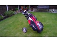 Wilson Fatshaft golf clubs Full set with bag and trolley VGC