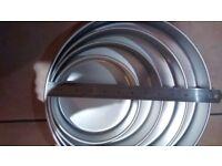 Wilton professional Round tin set-Nearly new