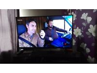 """43"""" smart 4k tv with box for sale"""