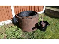 Bitumen pot and burner