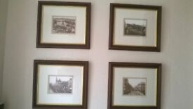 Historical Aberdeen landmark pictures - set of 4 excellent condition , approx 30 x 34 cm