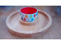 Whittard of Chelsea Wooden Serving Board and Bowl