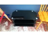 Stylish Black Glass TV Unit in Great Condition