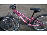 GIRLS MOUNTAIN BIKE 24 INCH WHEELS FRONT SUSPENSION suit 7 to 12 year old
