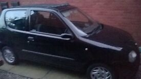 black stunning fiat secicento sporting for sale