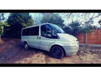 2007 ford transit 2.2 tourneo mini bus 9 seater new engine fitted