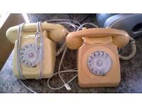 old retro dial phones
