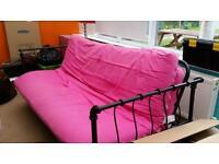 Futon/sofa bed.