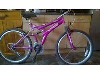 "dunlop sport full suspension bike ( 26"" wheel )"