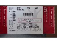 STATUS QUO AT CALDICOT CASTLE AUG 6th . 1 TICKET FOR SALE - face value
