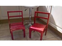 2 childrens vintage chairs