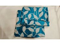teal and grey cushion covers