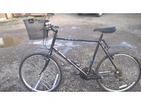 ADULT RALEIGH ROAD BIKE large 22 INCH FRAME REMOVABLE FRONT SHOPPING BASKET
