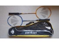 Carlton Badminton Set 2 Players 2 Rackets & 8 Shuttlecocks in 2 Cases