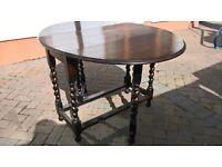 Antique Edwardian Oak (I think) gateleg table -