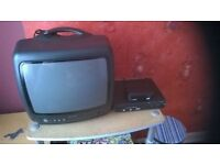 TV, Digital receiver, DVD player, Grill, Steamer, Fryer, Pots and pans NEW