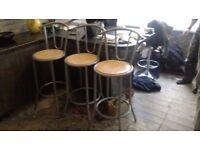 bar stools x3 good condition,bargain a £10