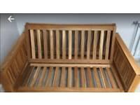 Futon company-Oke double sofa bed (solid oak)