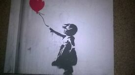 Banksy canvas girl with balloon