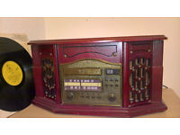retro style music centre in solid wood