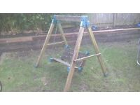 Childrens wooden early learning centre garden swing
